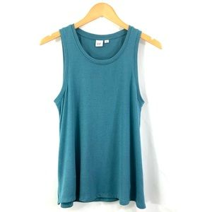 GAP Flowy A-Line Tank Top Teal Blue Size Small XS